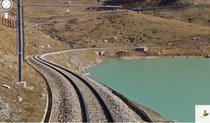 Google Street View pe calea ferata in Alpii Elvetieni