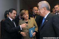 Nicolas Sarkozy, Angela Merkel si Mario Monti