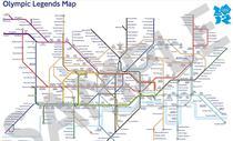 Harta metrolului din Londra pe durata JO