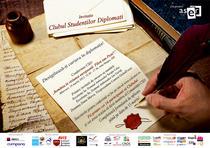 Afis Clubul Studentilor Diplomati