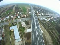 Autostrada Bucuresti - Ploiesti din avion