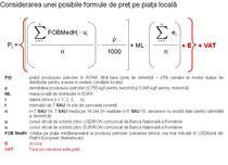 Posibila formula de pret pentru carburanti