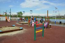 Parc amenajat pe malul lacului Fundeni