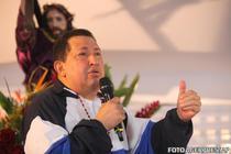Hugo Chavez la slujba din casa sa