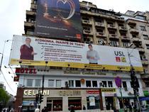Banner USL - C.P. Tariceanu si Dan Cristian Popescu