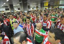 """Fanii lui Bilbao pe aeroportul """"Otopeni"""""""