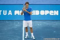Federer - campion (si) pe zgura albastra