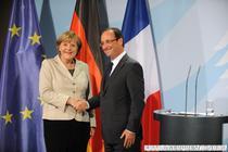 Merkel si Hollande la prima intalnire