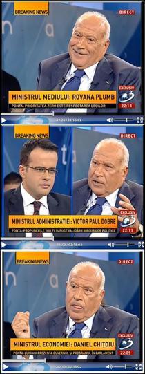 Voiculescu despre guvernul Ponta la Antena 3