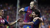 Iniesta si Messi, bucuria unui nou trofeu