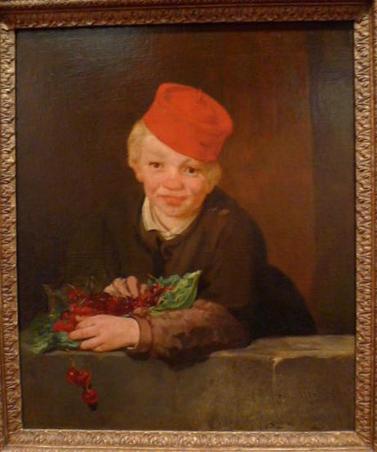 BAIAT CU CIRESE de Edouard Manet