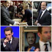 Francois Hollande si Nicolas Sarkozy