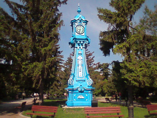 Ceas in Parcul Central