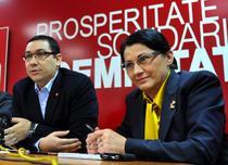 Victor Ponta si Ecaterina Andronescu