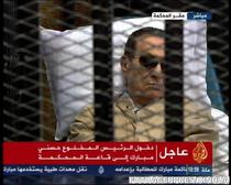 Hosni Mubarak in sala de judecata