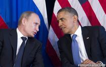 Barack Obama alaturi de Vladimir Putin