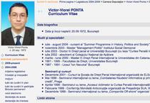 CV Victor Ponta in luna mai