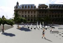 Simulare cum va arata spatiul public din fata Universitatii de Arhitectura si Urbanism