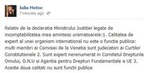 Raspunsul judecatoarei Iulia Motoc