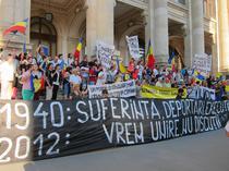 Manifestatie pentru unirea basarabiei cu Romania