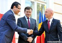 Victor Ponta, Crin Antonescu si Phillipe Gustin
