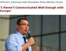 Victor Ponta in Der Spiegel