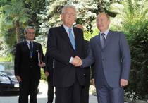 Vladimir Putin alaturi de premierul italian Mario Monti