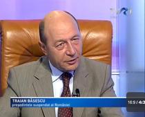 Traian Basescu la TVR 1