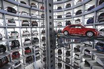 Un Beetle la sectiunea livrari a sediului VW Wolfsburg