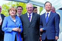 Angela Merkel, Martin Winterkorn si premierul chinez Wen Jiabao