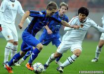 Cristian Sarghi in timpul meciului Otelul Galati - FC Basel (grupele Ligii Campionilor)