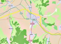 Traseul autostrazii care ocoleste Sebesul (cu galben)