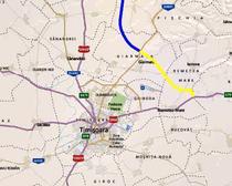 Centura Timisoarei (Autostrada Timisoara-Lugoj lot 1) - cu galben