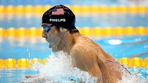 Michael Phelps in timpul probei de 200m bras