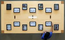 iPad-uri expuse la un magazin din Barcelona