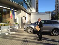 FOTOGALERIE Oficilalii operatorilor au ajuns la sediul ANCOM