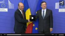 Traian Basescu si Jose Manuel Barroso, la Bruxelles