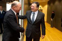 Traian Basescu si Jose Manuel Barroso
