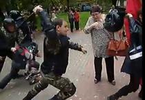 Politia intervine in forta la protestele din Rusia