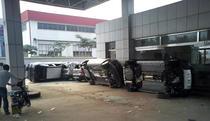 Masini Nissan vandalizate la un dealer chinez