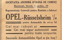 Reclama Opel din 1912