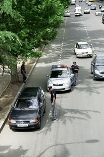 Politia din Georgia in trafic
