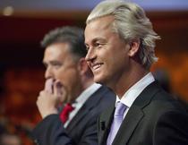 Geert Wilders, presedintele Partidului Libertatii (PVV), de extrema dreapta, din Olanda