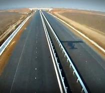 Autostrada in constructie - din avion