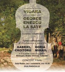 Vioara lui George Enescu la sate - afis