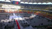 Pregatiri pe Arena Nationala pentru evenimentul de lansare a candidatilor USL la parlamentare