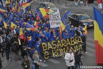 In Romania si Moldova au loc periodica marsuri pentru unirea celor doua tari