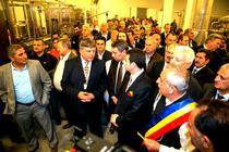 Inaugurarea fabricii de la Topoloveni