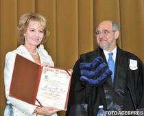 Principesa Margareta si presedintele Senatului UB