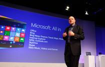 Steve Ballmer la lansarea Windows 8